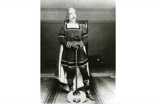 Arthur Conan Doyle dressed as a Viking